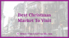Best Christmas Market To Visit